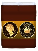 1988 Usa Olympic Gold Duvet Cover