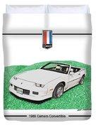 1989 Camaro Convertible Duvet Cover
