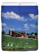 1990s Amish Family Farm Bunker Hill Duvet Cover