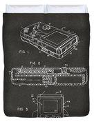 1993 Nintendo Game Boy Patent Artwork - Gray Duvet Cover