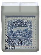 1994 Battle Of Saratoga Stamp Duvet Cover