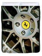 1997 Ferrari F 355 Spider Wheel Emblem -125c Duvet Cover