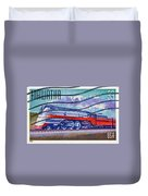 1999 Hiawatha Train Stamp Duvet Cover