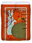 1999 Hong Kong Lunar New Year Stamp Duvet Cover