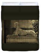 19th Century Granite Stone Sphinx Sepia Profile Poster Look Usa Duvet Cover