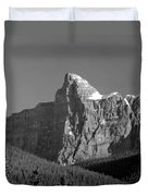 1m3621-bw-v-outlier Of Mt. Murchison Duvet Cover