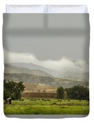 1st Day Of Rain Great Colorado Flood Duvet Cover