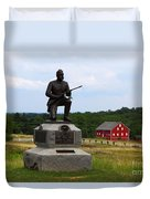 1st Pennsylvania Cavalry Defending Cemetery Ridge Duvet Cover by James Brunker