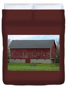 Large Red Barn Duvet Cover