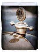1922 Studebaker Touring Hood Ornament Duvet Cover