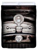 1928 Dodge Brothers Hood Ornament - Moto Meter Duvet Cover