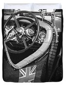 1931 Bentley 4.5 Liter Supercharged Le Mans Steering Wheel -1255bw Duvet Cover