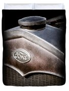 1931 Ford Grille Emblem Duvet Cover