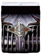 1933 Chrysler Sedan Grille Emblem Duvet Cover