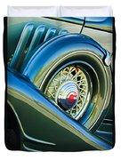1933 Pontiac Spare Tire -0431c Duvet Cover