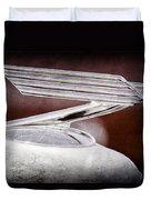 1934 Chevrolet Hood Ornament Duvet Cover
