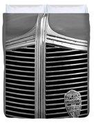 1936 Desoto Airstream Grille Emblem Duvet Cover