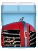 1937 Buick Boattail Roadster Grille Emblems Duvet Cover