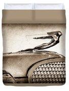 1937 Cadillac V8 Hood Ornament Duvet Cover