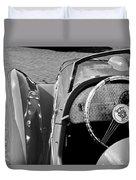 1937 Peugeot 402 Darl'mat Legere Speacial Sport Roadster Recreation Steering Wheel Emblem Duvet Cover