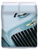 1939 Aston Martin 15-98 Abbey Coachworks Swb Sports Grille Emblem Duvet Cover