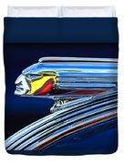 1939 Pontiac Silver Streak Chief Hood Ornament Duvet Cover