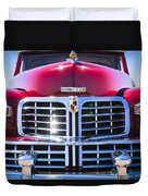1948 Lincoln Continental Grille Emblem Duvet Cover