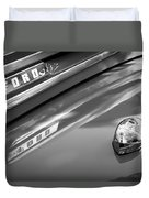 1949 Ford F-1 Pickup Truck Emblem -0027bw Duvet Cover