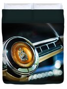 1949 Plymouth P-18 Special Deluxe Convertible Steering Wheel Emblem Duvet Cover