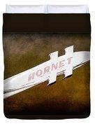1951 Hudson Hornet Emblem Duvet Cover