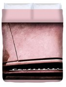 1953 Studebaker Coupe Grille Emblem Duvet Cover