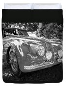 1954 Jaguar Xk 120 Se Ots  Bw Duvet Cover