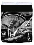 1956 Chevrolet Belair Steering Wheel Duvet Cover