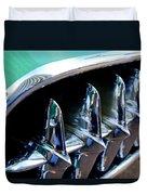 1957 Chevrolet Corvette Grille Duvet Cover