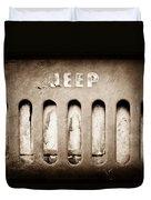 1957 Jeep Emblem Duvet Cover