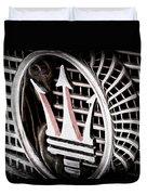 1957 Maserati Grille Emblem Duvet Cover