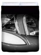1957 Studebaker Golden Hawk Bw Duvet Cover