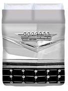 1958 Cadillac Eldorado Biarritz Convertible Emblem Duvet Cover by Jill Reger