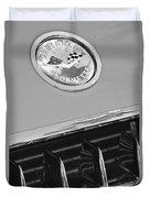 1958 Chevrolet Corvette Hood Emblem Duvet Cover