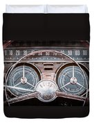 1959 Buick Lesabre Steering Wheel Duvet Cover