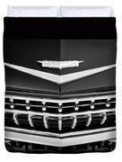 1959 Cadillac Eldorado Grille Emblem Duvet Cover