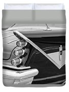 1959 Desoto Adventurer Convertible Tail Light Emblem Duvet Cover