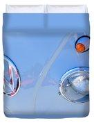 1959 Volkswagen Vw Panel Delivery Van Emblem Duvet Cover
