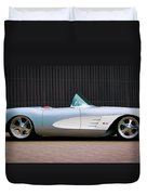 1960 Chevrolet Corvette Duvet Cover