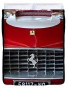 1960 Ferrari 250 Gt Swb Berlinetta Competizione Grille Emblem Duvet Cover