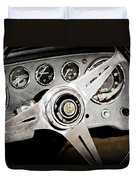 1960 Maserati Steering Wheel Emblem Duvet Cover