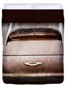 1961 Aston Martin Db4 Coupe Emblem Duvet Cover