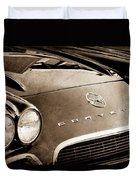 1962 Chevrolet Corvette Hood Emblems Duvet Cover