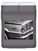 1963 Ford Galaxie Front End And Badge Duvet Cover