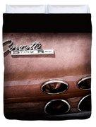 1965 Chevrolet Corvette Taillight Emblem Duvet Cover